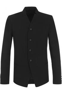 Однобортный пиджак из смеси шерсти и льна Masnada