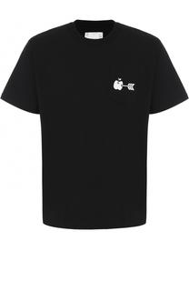 Хлопковая футболка с принтом Sacai