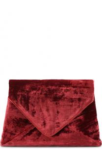 Текстильный клатч с кожаной отделкой Dries Van Noten