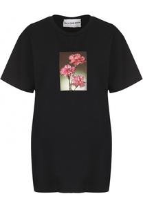 Удлиненная футболка прямого кроя с принтом Walk of Shame