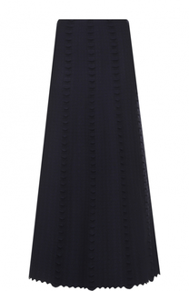 Шерстяная юбка-миди с фактурной отделкой Alaia