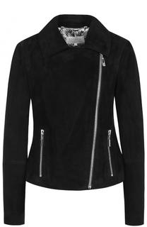 Замшевая куртка с косой молнией Escada Sport