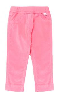Хлопковые брюки прямого кроя с эластичным поясом Il Gufo
