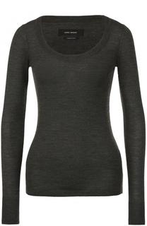 Шерстяной облегающий пуловер с круглым вырезом Isabel Marant