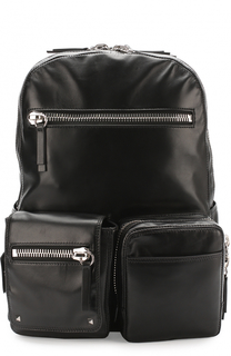 Кожаный рюкзак с карманами Valentino