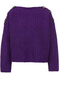Шерстяной пуловер свободного кроя с вырезом-лодочка Isabel Marant