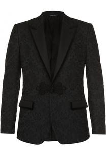 Кружевной приталенный пиджак Dolce & Gabbana