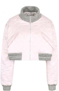 Укороченная стеганая куртка с контрастными манжетами Walk of Shame