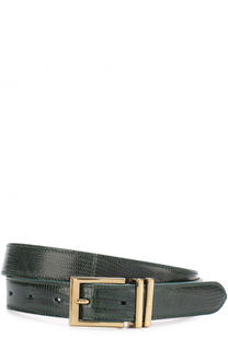 Кожаный ремень с металлической пряжкой Ralph Lauren