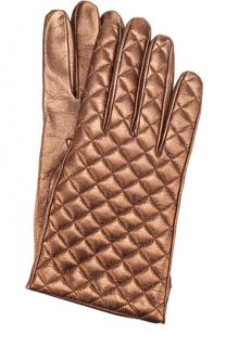 Перчатки из металлизированной кожи Sermoneta Gloves