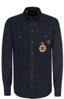 Джинсовая рубашка с аппликацией Dolce & Gabbana