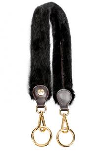 Ремень для сумки из меха норки Simonetta Ravizza