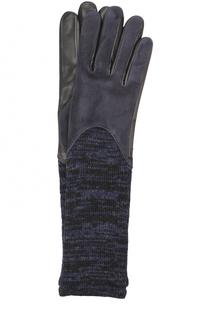 Удлиненные замшевые перчатки с шерстяной отделкой Agnelle