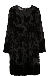 Мини-платье с завышенной талией и длинным рукавом Blugirl