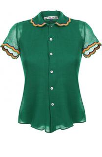 Шерстяная блуза с коротким рукавом Jupe by Jackie