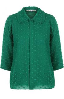 Шерстяная блуза с укороченным рукавом Jupe by Jackie