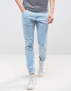 Голубые джинсы скинни LDN DNM - Синий