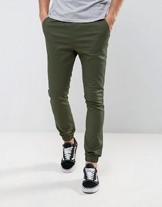 Зауженные джоггеры цвета темного хаки ASOS - Зеленый