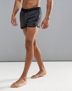 Черные шорты для плавания с логотипом adidas CD8468 - Черный