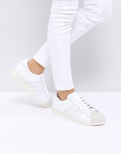 Белые кроссовки с пробковым носком adidas Originals 80S - Белый