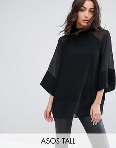 Оверсайз-футболка ASOS TALL - Черный