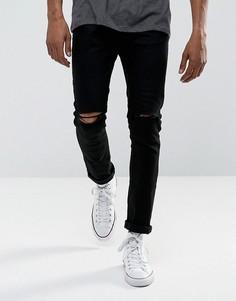 Черные рваные джинсы скинни Brave Soul - Черный