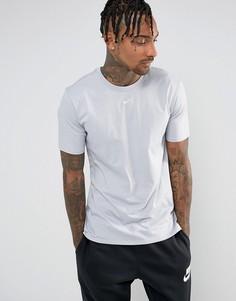 Серая футболка с логотипом-галочкой Nike 906959-012 - Серый