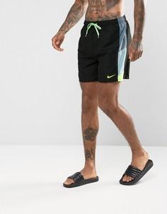 Черные короткие шорты для плавания в стиле ретро Nike NESS7419001 - Черный