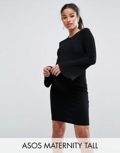 Облегающее платье мини ASOS Maternity TALL - Черный