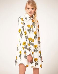 Платье-рубашка с принтом Ashish - Кремовый