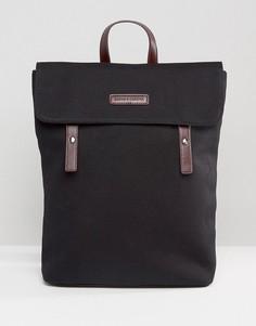 Парусиновый рюкзак с кожаной отделкой Smith And Canova - Черный