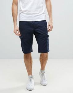 Темно-синие шорты чиносы Esprit - Темно-синий
