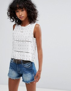 Укороченная блузка d.RA Selma - Белый