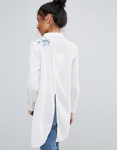 Рубашка с вышивкой Unique 21 - Белый
