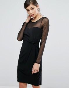 Платье со вставкой из сетки Coast Reeva - Черный