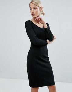 Облегающее платье миди Storm & Marie Must - Черный