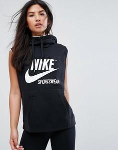 Черный худи без рукавов Nike Archive - Черный