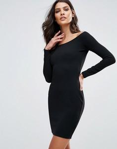 Платье мини с открытыми плечами AX Paris - Черный