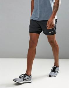 Черные шорты 2 в 1 Nike Running Flex Distance 904221-010 - Черный