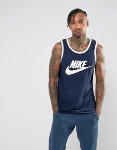 Темно-синяя майка с логотипом Nike Ace 779234-433 - Темно-синий