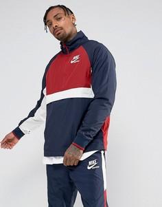 Темно-синяя спортивная куртка на молнии Nike Archive 921743-451 - Темно-синий