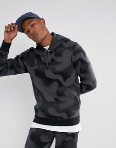 Флисовый худи с камуфляжным принтом Nike Jordan P51 Flight 860350-010 - Черный