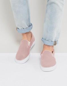 Розовые сетчатые кеды-слипоны ASOS - Розовый