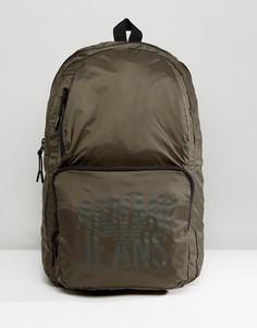 Рюкзак из нейлона рип-стоп цвета хаки Armani Jeans - Зеленый