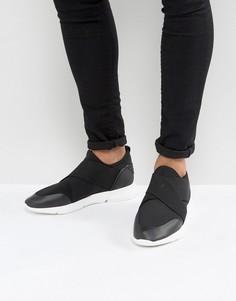 Черные кроссовки с перекрестными эластичными ремешками ASOS - Черный