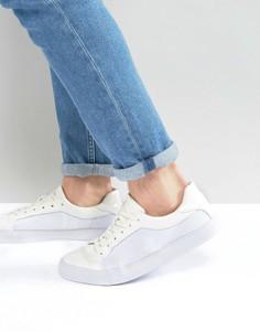 Белые кроссовки на шнуровке с сетчатыми вставками ASOS - Белый
