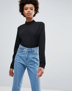 Свободная рубашка с кружевом на спине Ichi - Черный