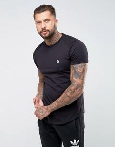 Длинная футболка с закругленным краем Le Breve - Черный