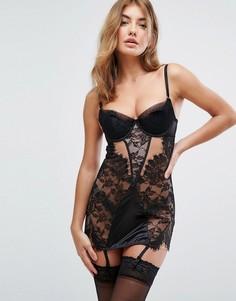 Платье-комбинация с подвязками Ann Summers Signature - Черный