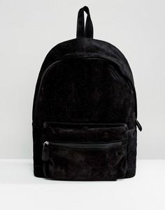 Черный замшевый рюкзак ASOS - Черный